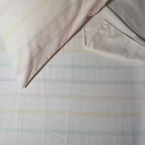 100% Brushed Cotton Winter Bale Set - Rainbow Stripes - CQ Linen Quality Bedding