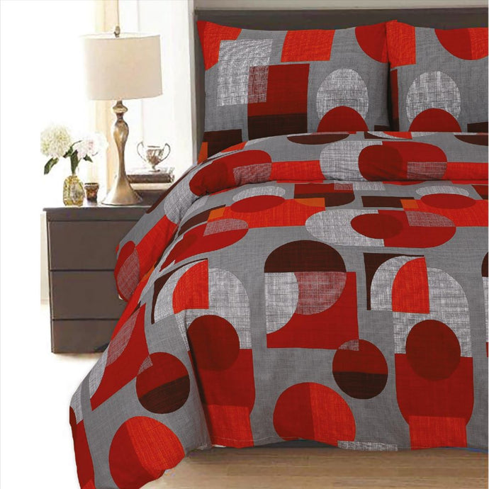Geometric Polycotton Duvet Cover Set - CQ Linen Quality Bedding