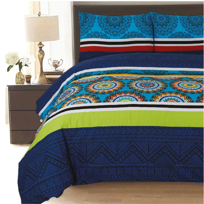Ethnic Polycotton Duvet Cover Set - CQ Linen Quality Bedding
