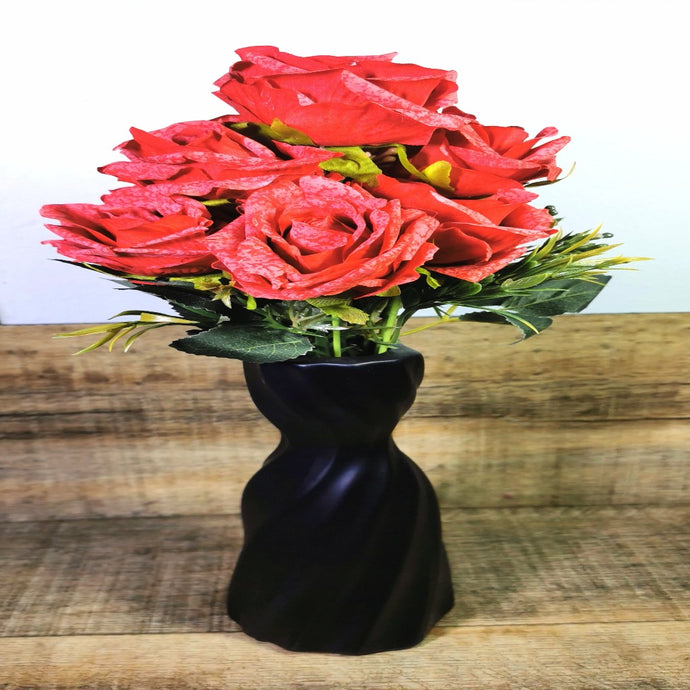 red roses bunch-CQ Linen