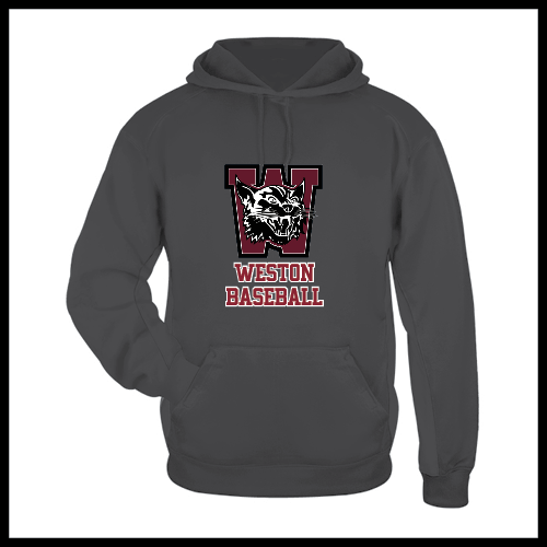 Weston Baseball Black Hooded Sweatshirt