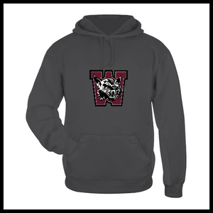 Weston Softball Dark Grey Hooded Sweatshirt