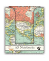 Robert Frederick - Vintage Map Notebook A5 - Notatbøker