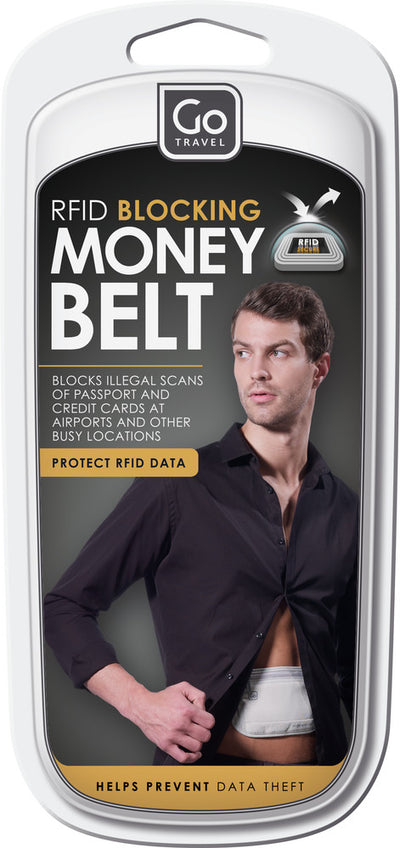 Go Travel RFID Blocking Money Belt pengebelte