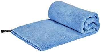 Cocoon Microfibre Terry Towel XL reisehåndkle - Light Blue sammenrullet