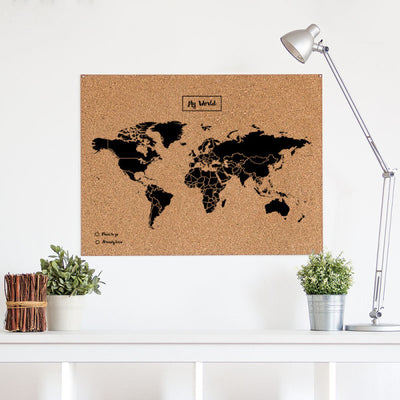 Woody Maps - Woody map XL Black - Verdenskart