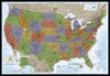 National Geographic - USA Map Decorator Laminated / Enlarged - Verdenskart