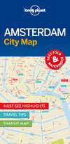 Lonely Planet - Amsterdam City Map bykart - 9781786574091