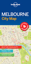 Lonely Planet - Melbourne City Map - 9781786575029