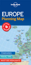 Lonely Planet - Europe Planning Map kart - 9781786579102