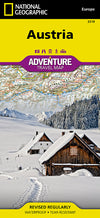 Adventure Travel Map Reisekart - National Geographic - Østerrike,National Geographic,Kart,Adventure Maps