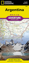 Adventure Travel Map Reisekart - National Geographic - Argentina,National Geographic,Kart,Adventure Maps