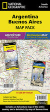 Adventure Travel Map Reisekart - National Geographic - Buenos Aires,Argentina,National Geographic,Kart,Adventure Maps