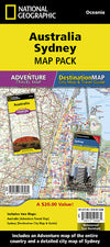 Adventure Travel Map Reisekart - National Geographic - Australia,Sydney,National Geographic,Kart,Adventure Maps