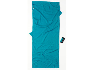 Cocoon Insect Shield Cotton Sleeper lakenpose - Laguna Blue