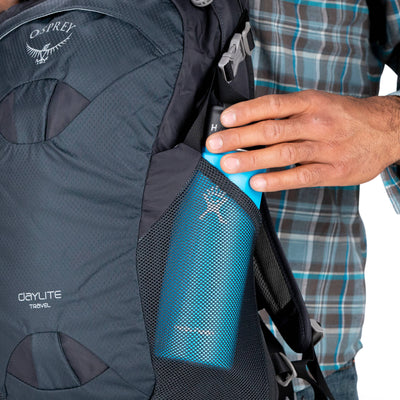 Osprey Daylite Travel Backpack ryggsek flaske detalj