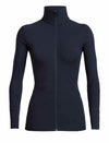 Icebreaker Descender LS Zip mid-layer Dame - Midnight Navy