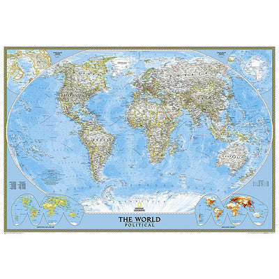 World Map Political Standard (117 x 76 cm)