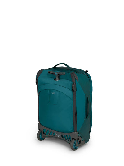 westOsprey Rolling Transporter Carry-On 38 - Westwind Teal stående
