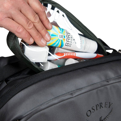 Osprey Rolling Transporter Carry-On 38 toalettsaker detalj