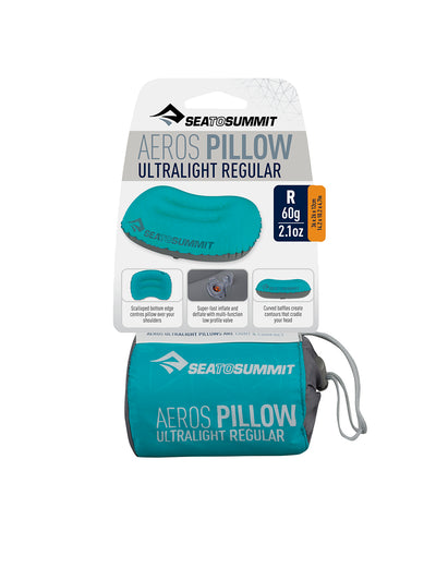 Sea To Summit Aeros Ultralight Pillow Teal/Grey salgsforpakning