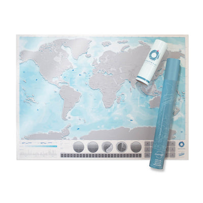 Scratch Map Oceans