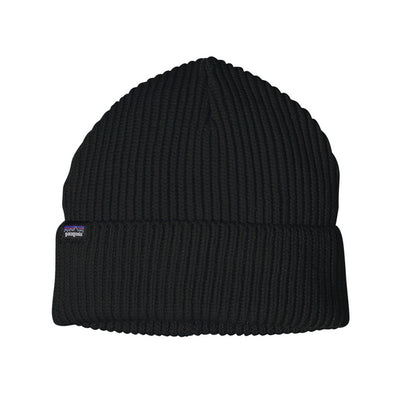 Patagonia Fisherman Rolled Beanie lue - Black