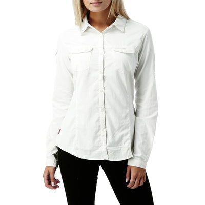 Craghoppers Nosilife Adventure LS Shirt Dame Sea Salt
