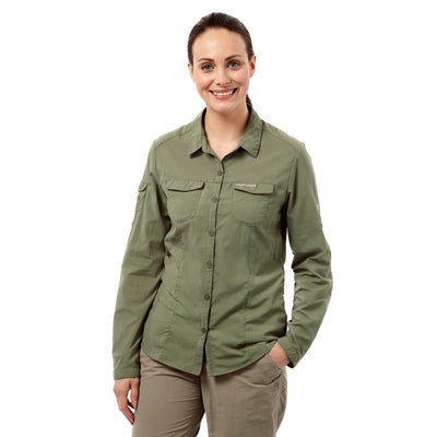 Nosilife Adventure LS Shirt Dame Soft Moss front