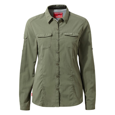 Craghoppers Nosilife Adventure LS Shirt Dame Soft Moss