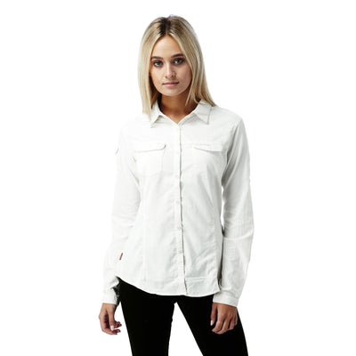 Adventure LS Shirt Dame Sea Salt dame foran