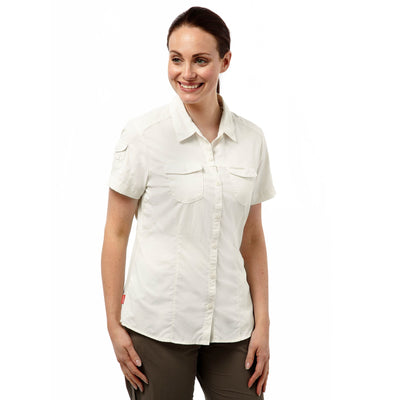 Craghoppers Adventure SS Shirt Dame - Sea Salt front
