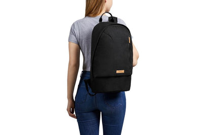 Bellroy Campus Backpack Black ryggsekk på ryggen