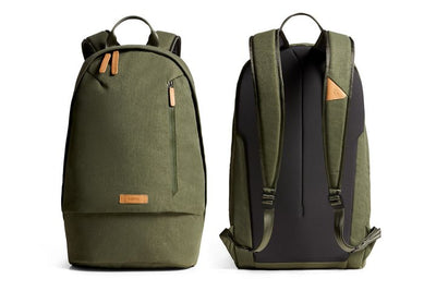 Bellroy Campus Backpack Olive ryggsekk front og bak