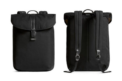 Bellroy Slim Backpack 16L ryggsekk - Black foran og bak