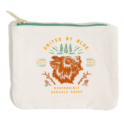 United by Blue Canvas Pouch pung - Grizzly Bear