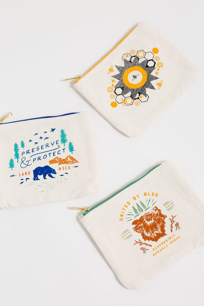 United by Blue Canvas Pouch pung - alle motiver