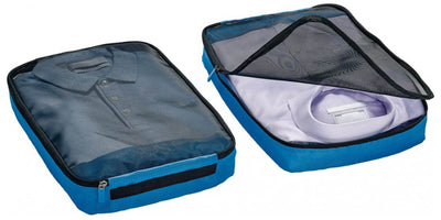 Go Travel Packing Cubes Twin Pack stor blå