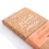 Cork Notebook A6 Let's Travel the World