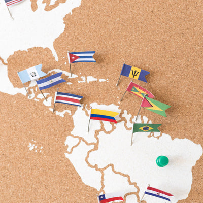 Flag Pins Africa for Woody Maps