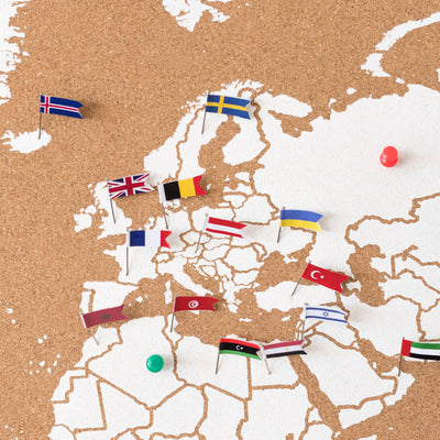 Flag Pins Europe for Woody Maps