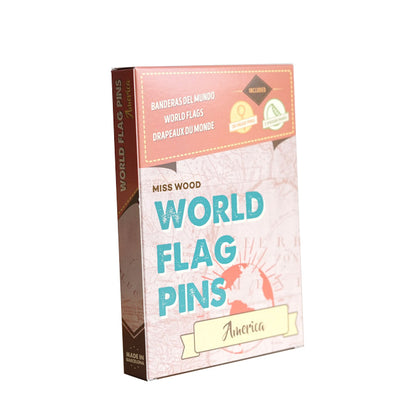 Flag Pins America for Woody Maps