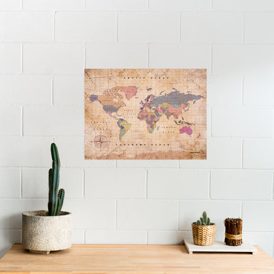 Woody Map Watercolor XL (90 x 60 cm)