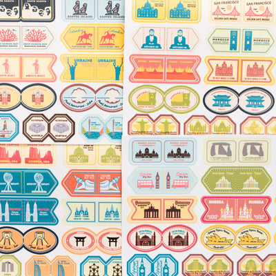 Stickers Set Monuments