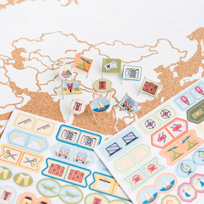 Stickers Set Travelling the World
