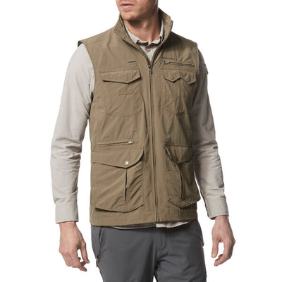 Craghoppers Nosilife Adventure Gilet Pebble front