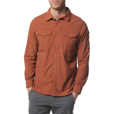 Craghoppers Adventure II LS Shirt Burnt Whiskey herre modell