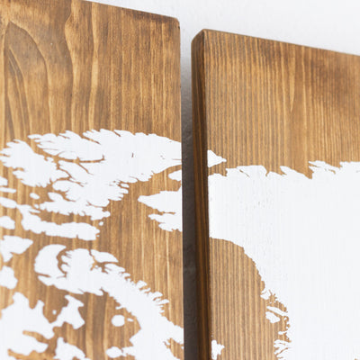 Woody Map Wooden edition (120 x 60 cm)