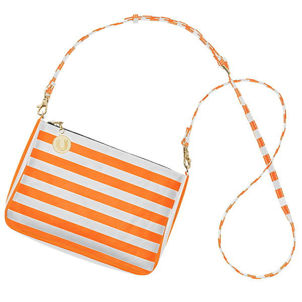 Bright Orange & White Crossbody Bag - Lillybee Style