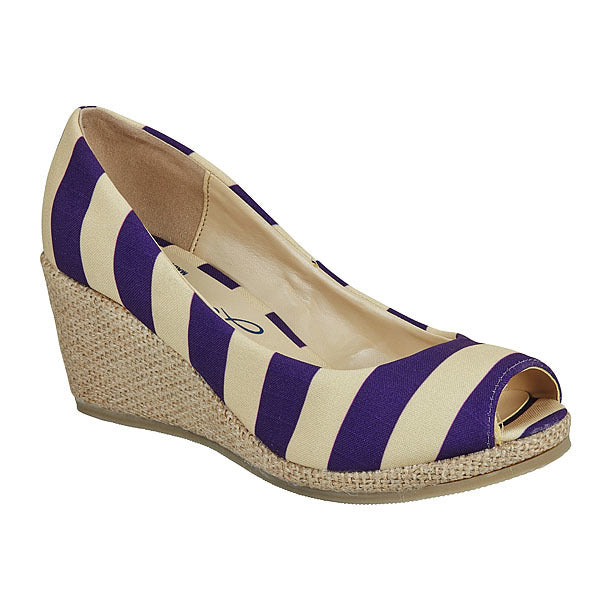 Deep Purple & Old Gold Wedges - Lillybee Style